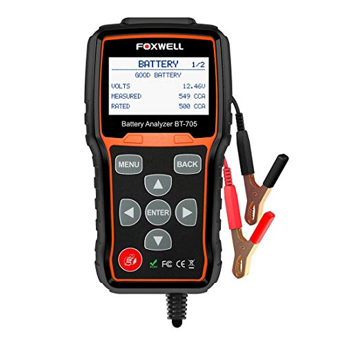 GST&GST Batterie-Tester Automotive 100-2000 CCA Batterie Laden Tester, 12V 24V Auto-Cranking Und Ladesystemtest-Scan-Werkzeug-Digital-Batterie-Analysator