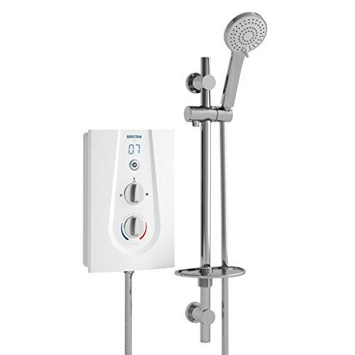 Bristan JOYT395 W 9.5 kW Joy 3 Thermostatic Electric Shower - White Best Price and Cheapest