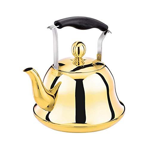 Seasaleshop Pfeifen Tee Wasserkocher, Edelstahl Teekanne Rose Gold Tee Wasserkocher Für Herd Induktionsherd Top Wärme Wasser Tee Topf Kupfer 2-Liter.