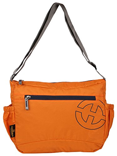 College Messenger Bag - Tanworld Crinoid Casual Shoulder Bag for Boys & Girls - Stylish Crossbody Satchel (TWMB01-Orange)  available at amazon for Rs.299
