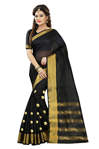 bahubali black cotton embrodared saree