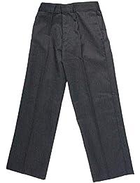 New Half Elastic Pull Up Trousers Boys Waist Pull School wear Uniform Pants 1-13