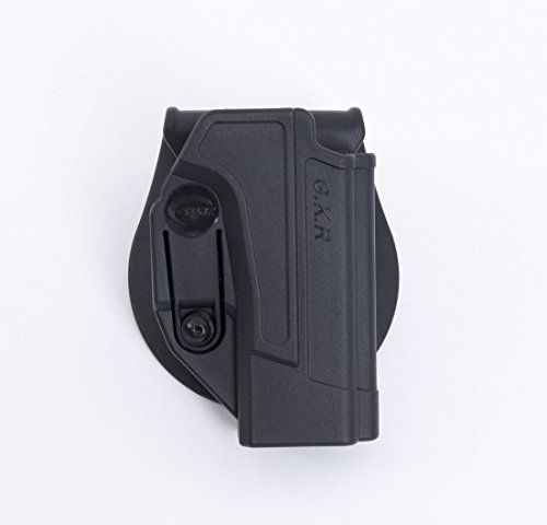 ORPAZ Defense Active retention ROTO rotation tactical paddle polymer holster with tention ajustment for All Smith & Wesson S&W M&P 9mm, .40cal, .22cal & .45cal, M&P M2.0 in 9mm, .40cal & .45cal, SD9, SD40, SD9VE (Smith And Holster Ve Wesson-sd40)