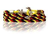 Fan-Armband Deutschland (schwarz rot gold) Nylon Anker-Armband Unisex-Armband Armband-Herren Armband-Damen Design-Armband Länge 84 cm Geschenkbox