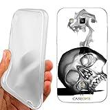 CUSTODIA COVER CASE SKULL MASK WHITE PER SAMSUNG GALAXY S3 NEO i9301