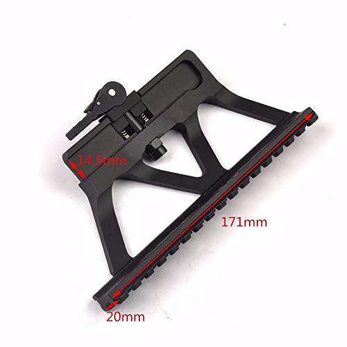 WENQUAN-AC, Schnellkupplung AK Gun Rail Zielfernrohrmontage Basis Picatinny Seitenschienenmontage for AK 47 AK 74 Schwarz -
