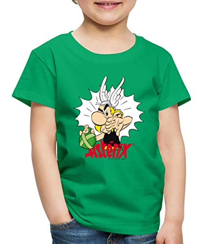 Spreadshirt Asterix & Obelix Weg Von Meinem Zaubertrank Kinder Premium T-Shirt, 122/128 (6 Jahre), Kelly Green