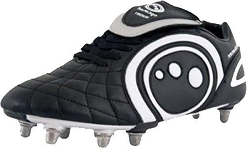 OPTIMUM Blaze II Chaussures de Rugby Enfant, Noir/Blanc, 38