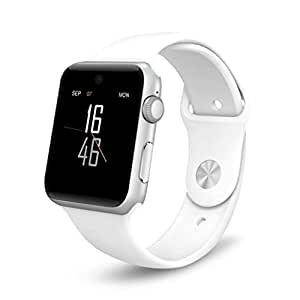 Montre Connectées android,Stoga SW25 Smart watch puce Bluetooth montre intelligente Support SIM carte Smartphone Fitness Tracker pour IOS Android - Blanc