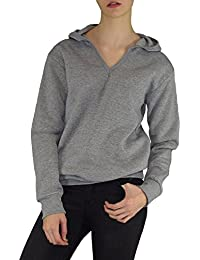 S&LU sportliches Kapuzen-Sweatshirt mit top-modernem V-Ausschnitt S-XXL