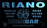 q37453-b RIANO Family Name Home Bar Beer Mug Cheers Neon Light Sign