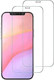 """AFGLOOY 2Pack Tempered Glass For iPhone 12 / iPhone 12 Pro (6.1"""") Screen Protector, Easy Bubble-Free Inst"""