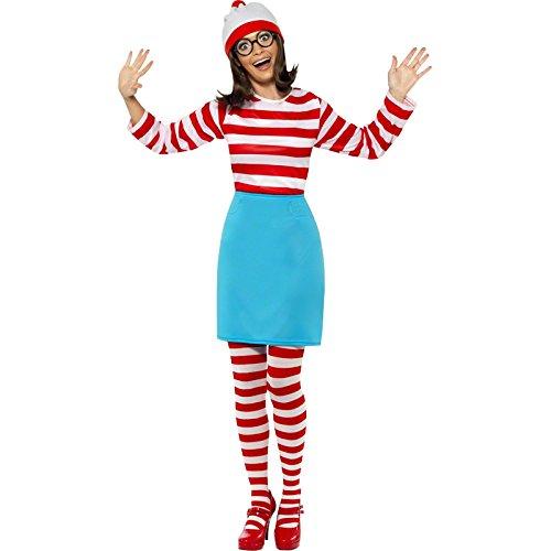 Smiffys, Damen Wo ist Wenda-Kostüm, Oberteil, Rock, Brille, Leggings und Mütze, Größe: S, (Für Rock Star Ein Kostüm Ideen)