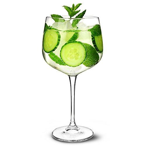 Gin Vasos de cóctel 26oz/700ML–Set de 6–Copa de Balon Gin Globo de Cristal