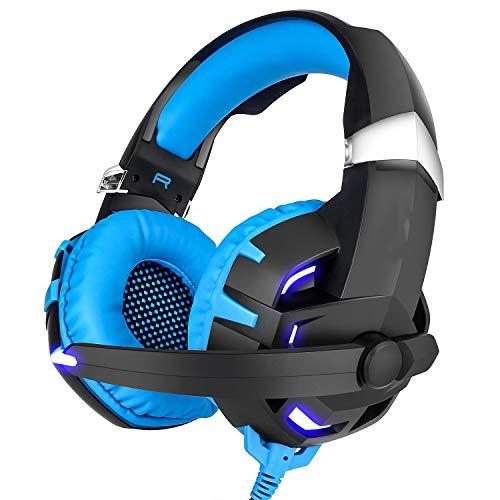 USB 7.1-Surround-Sound-Gaming-Headset mit Mikrofon,Blue