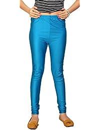 Comix Women's Cotton Lycra Ankle Length Plain Leggings