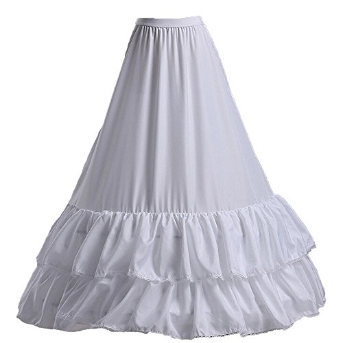 klassisch Neu 3 Ringe Reifrock IVORY Elfenbein Brautkleid Unterrock Petticoat verstellbar
