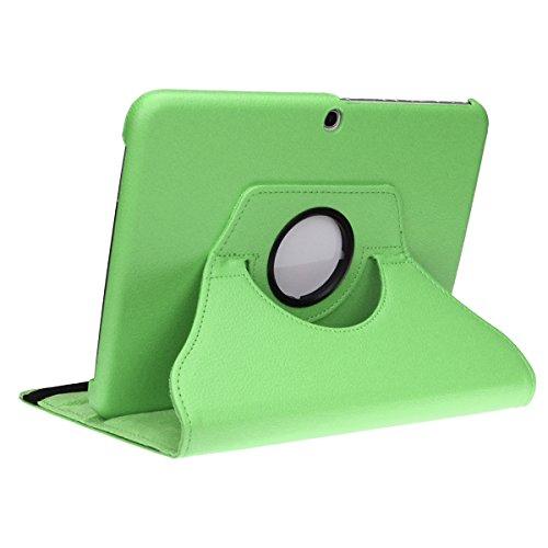 doupi Deluxe Schutzhülle Samsung Galaxy Tab E (9,6 Zoll 360 Grad Drehbar Tablet Etui Schutz Hülle Ständer Cover Tasche, Grün