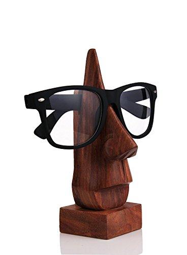 NYGT handgemachte hölzerne nasenförmige Brillenhalter, Brillenhalter, Specs Stand, Sonnenbrille Halter, Holz Brillenständer für Männer-Frauen-Kinder für Office Desktop/Tabletop