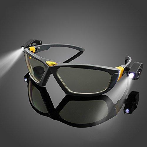 LED Sicherheit Brille Night Vision Schutzbrille Industrie Arbeit Sicherheit Nacht Lesen Outdoor Radfahren Brille (Nacht-vision-brille Erwachsene Für)