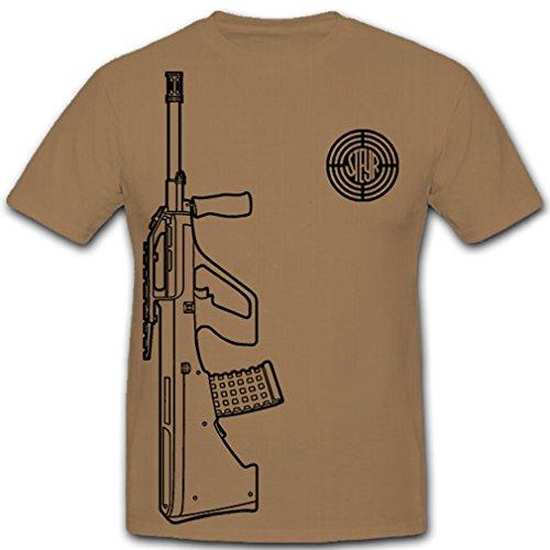 Steyr AUG Firma Hersteller Unternehmen Logo Österreich österreichisches Sturmgewehr universal Gewehr Waffe Militär Bundesheer Bullpump - T Shirt Herren khaki M #9974