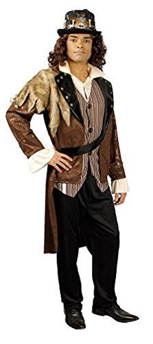Karneval-Klamotten Steampunk Kostüm Herren Gehrock mit Hose Herren-Kostüm Viktorianisch Größe 46/48 (Erwachsene Braun Steampunk Kostüme Hosen)