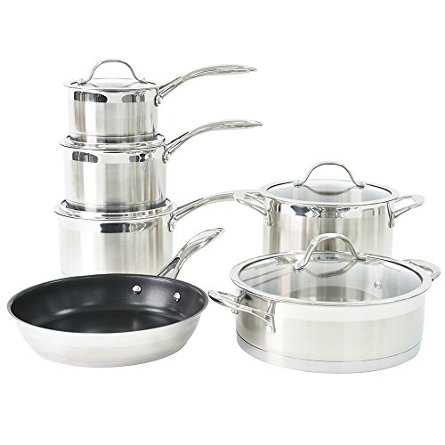 ProCook Professional Stainless Steel Induction Cookware Set 6 Piece