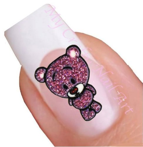 Teddy Bear paillettes à autocollants pour nail art