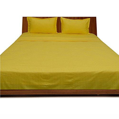 royallinens-600tc-magnifique-4-feuille-de-rayures-taille-de-poche-432-cm-coton-yellow-stripe-single-