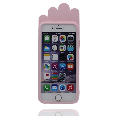 """iPhone 6 (4.7"""") Coque, [popcorn, pop-corn,TPU durable et flexible] couverture étui pour iPhone 6s, iPhone 6s (4.7"""") Case, anti-chocs, rose"""