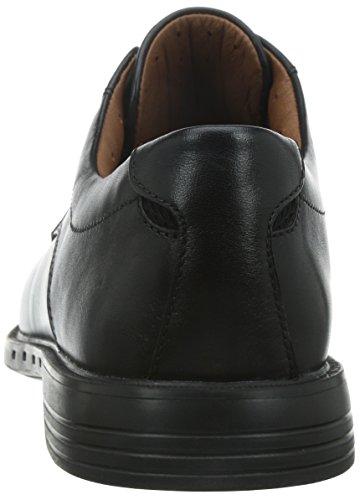 Clarks Unbizley Plain Herren Derby Schnürhalbschuhe Schwarz (Black Leather)