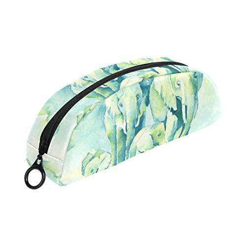 COOSUN - Estuche para lápices de elefantes de acuarela, semicircular, bolígrafo, bolsa,...