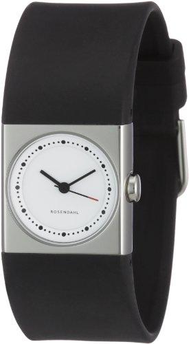 Rosendahl 43261 - Reloj de mujer de cuarzo, correa de goma color negro
