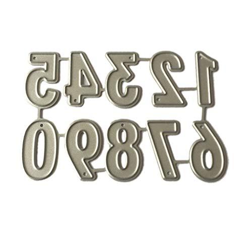 Bogji Número Metal Repujado Plantillas vorlage Perforadora