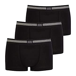 Jockey 3er Pack Herren pantalón Corto Trunk Boxer Shorts USA Originals Uni – Schwarz