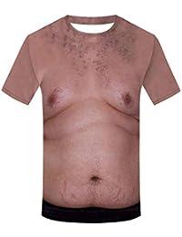 Doingshop Unisex Ugly Naked Man Women Short Sleeve T Shirt Nude Fancy Dress  3D Boobs Printed 7a6d48538a229