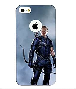 Make My Print Captain America Printed Multicolor Hard Back Cover For Apple Iphone 5/5S