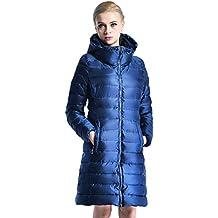 660bd7a91c538 Weimilon Plumas Invierno Mujer Largos Abrigos Termica Otoño con Joven  Elegantes Moda Cremallera Manga Larga Jacket