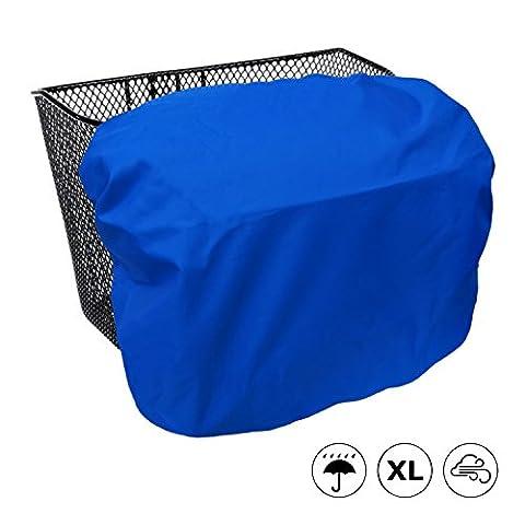 Extra große, wasserdichte Regenhülle / Abdeckung für Fahrradkörbe - MadeForRain CityTurtle XL - Königsblau
