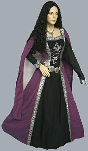 Dark Dreams Gothic Mittelalter LARP Gewandgürtel Fleur altsilber, Länge:110 cm - 4