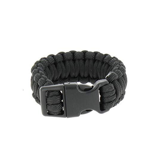 Bracelet Paracorde 2,2cm Noir - MilTec