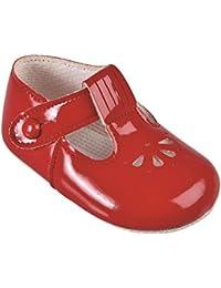 Zapatos de bebé de Early Days Baypods, con barra en forma de T, con diseño de pétalos perforados, hechos en Inglaterra, colores para niños…