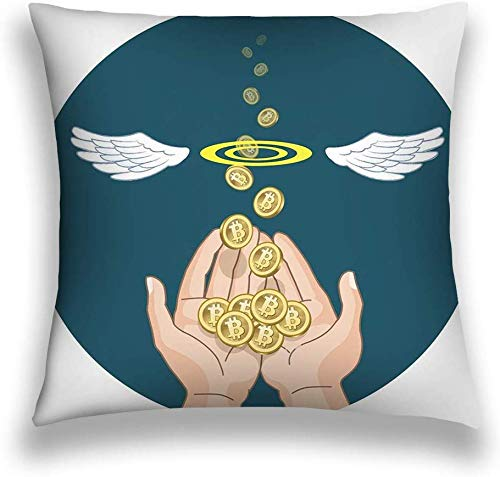 ryudryu Throw Pillow Cover Pillowcase Bitcoins Flying Hands Disappearing bitcon Concept Coins air File Contains Gradients Clipping mask Transparency Sofa Home Decorative Cushion Case 18