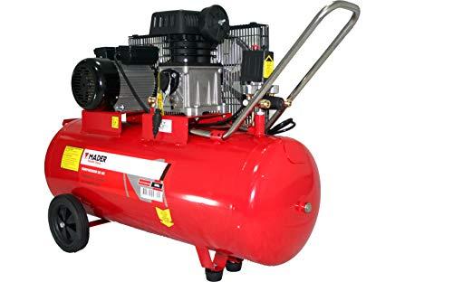 SAURIUM - Compresor de Aire - Con Correas - Eléctrico - 100L 3HP  - Potente y Portable