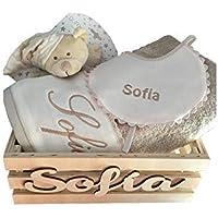 Caja conjunto bebé con bordados personalizados