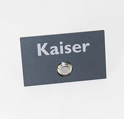 Preisvergleich Produktbild Thorwa® Design Edelstahl Klingelplatte Türklingel Klingeltaster Klingel - 10cm x 6cm (B x H) - individuell beschriftet mit LED Leuchtring - rechteckig (anthrazit | pulverbeschichtet)