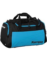 Kempa Bolsa de deporte grande color azul claro/negro 65x 31x 37,5cm, 75L con texto impreso Nombre