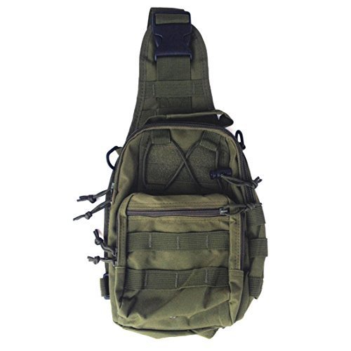 Yihya Multifunktionale Nylon e Tasche Messenger Bag Überfall Rucksack für Outdoor Sports Abenteuer Klettern & Reiten Reisetasche Schultertasche Schultertasche-Armeegrün