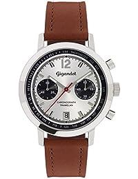 Gigandet Tramelan Herren Quarz Armbanduhr Chronograph Analog Datum Braun Silber G10-004