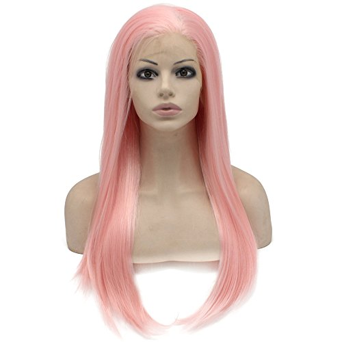 (Iwona Lange Gerade Celebrity Synthetische Lace Front Natural Pink Cosplay Party Perücke)